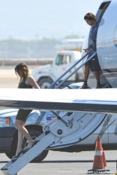 Khloe Kardashian - Getting off a private jet in Las Vegas 9/18/13