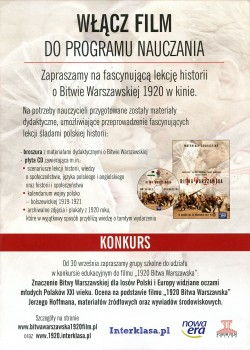 Tył ulotki filmu '1920 Bitwa Warszawska'