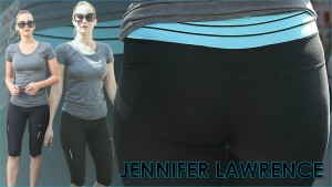 Jennifer Lawrence - Spandex Booty Widescreen Wallpaper