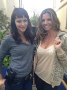 Charisma Carpenter - C-Thru Shirt Twitter Pics on Set of 'Blue Bloods' Sept. 25, 2013