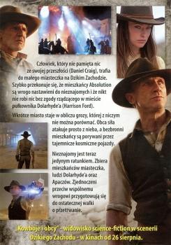 Tył ulotki filmu 'Kowboje i Obcy'