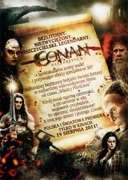 Tył ulotki filmu 'Conan Barbarzyńca'