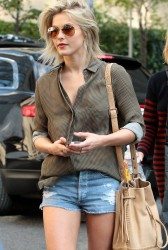 Julianne Hough - leaving her hotel in NYC 10/1/13