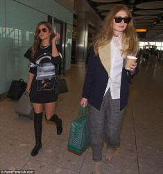 Cheryl Cole - at Heathrow Airport in London 10/4/13