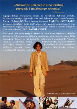 Tył ulotki filmu 'Niebo Nad Saharą'