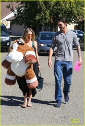 Kaley Cuoco Arriving at a Birthday Party in Fillmore, California - October 19, 2013