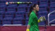 Hope Solo from USA vs AUS 10/20 match