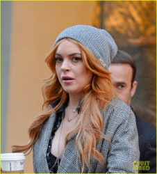 Lindsay Lohan - Out in NYC 10/24/13
