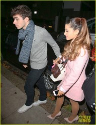 Ariana Grande - Out for dinner in London 11/7/13