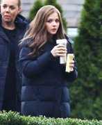 Chloë Moretz - on the set of 'If I Stay' in Vancouver 11/8-11/9/13