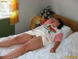 Girl panties Sleeping upskirt