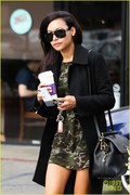 Naya Rivera - Showing some leg on a coffee run in Los Feliz 11/20/13