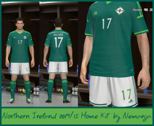 download pes 2014 Northern Ireland 2014-2015 Home Kit