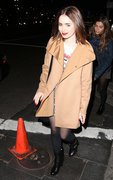 Lily Collins - leaving the Justin Timberlake concert in LA 11/26/13