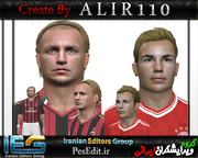 download Philippe Mexès & Mario Götze face by A L I R 1 1 0