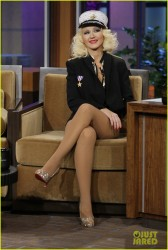 Christina Aguilera - pre-taping an appearance on The Tonight Show with Jay Leno in Burbank 11/27/13