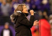 Zendaya Coleman - performs at the Steelers vs Ravens game in Baltimore 11/28/13