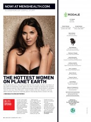 Olivia Munn in Men's Health - January/February 2013