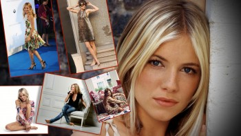 Sienna Miller - Collage - Wallpaper - Wide - x 1