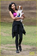 Naya Rivera - Working out at a park in LA 12/4/13
