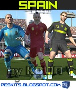 pes 2014 Spain 2014 Full Kit Set by Kolia V.