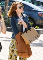 Emma Stone - Shopping in Malibu 4/2/15