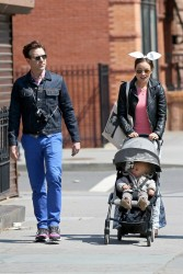 Olivia Wilde out and about New York with her family on Easter Sunday on April 5, 2015