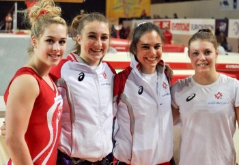 Giulia Steingruber and her Teammates for the European Championships - x 1