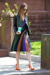 Olivia Wilde - Chic Street Style New York City, April 2015