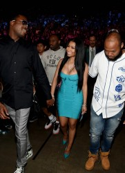 Nicki Minaj - At the Floyd Mayweather vs. Manny Pacquiao Fight in Las Vegas 5/2/15