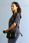 Zoe Saldana Spotted out in Century City May 4-2015 x5