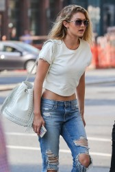 Gigi Hadid - Out & About in NYC 5/27/15
