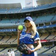 Charlotte McKinney - Dodgers' Hollywood Stars Game (6/6/15)