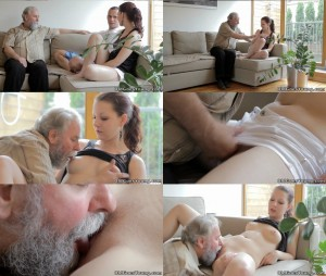Beautiful girl gets fucked by a horny old man